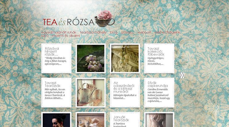 Tearózsa weblap