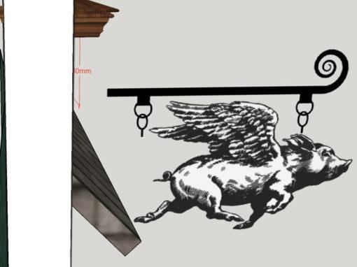 Hentesbolt – branding és protálterv, kivitel