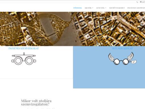 Optikaplus.hu bolthálózat weboldala