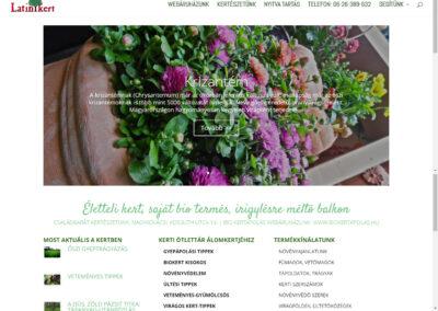 Latinkert weboldal